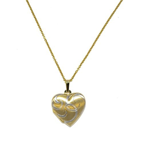 18K Gold Heart Locket Necklace by US Jewels And Gems in Hall Pass