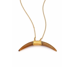 Horn Pendant Necklace by Chan Luu in The Shallows