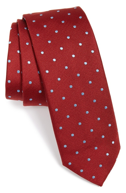 Polka Dot Silk Tie by Boss in Ballers - Season 1 Episode 5