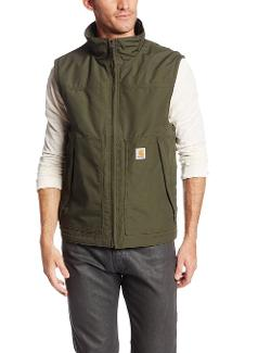 Men's Tall Quick Duck Waterproof Breathable Jefferson Vest by Carhartt in Mortdecai
