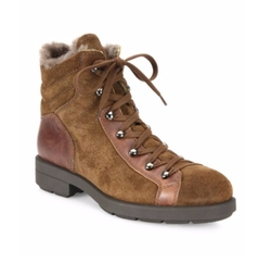 Lettie Suede, Leather & Shearling Hiking Boots by Aquatalia in Beauty and the Beast
