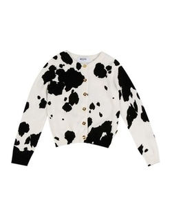 Round Collar Cardigan by Moschino Kid in Black-ish