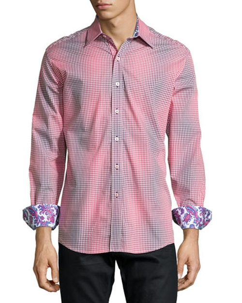 Wick Checked Sport Shirt by Robert Graham in The 33