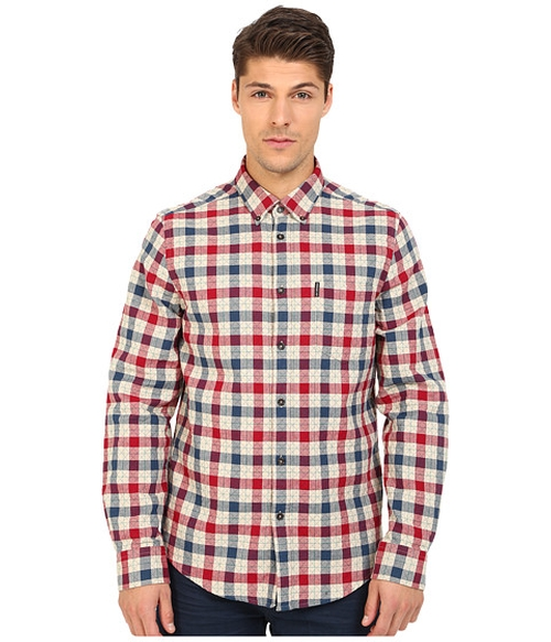 House Check Woven Shirt by Ben Sherman in Keanu