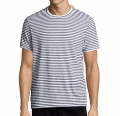 Rylee Pima Double-Edge Striped T-Shirt by Theory in Animal Kingdom