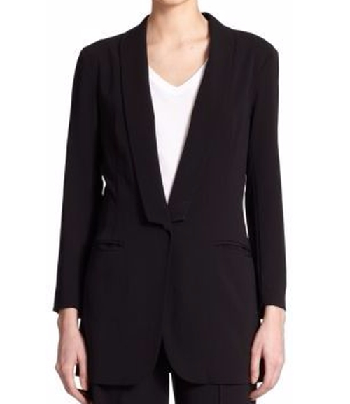 Shawl Collar Blazer by ATM Anthony Thomas Melillo in Keeping Up With The Kardashians - Season 12 Episode 12