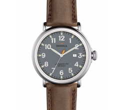 Runwell Leather Watch by Shinola in Ballers