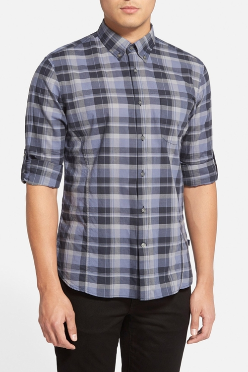 Slim Fit Plaid Sport shirt by John Varvatos Star USA in Brooklyn Nine-Nine