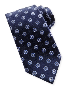 Small-Medallion Silk Tie by Brioni in Hot Pursuit