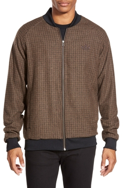 Superstar Tweed Check Track Jacket by Adidas Originals in Black-ish