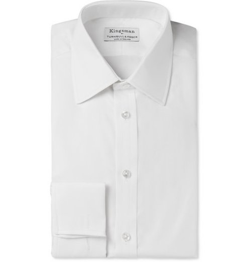 White Cotton-Twill Shirt by Turnbull & Asser in Kingsman: The Secret Service
