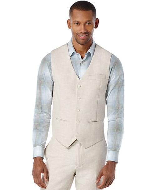 Octavio Slim Vest by Perry Ellis in Live By Night