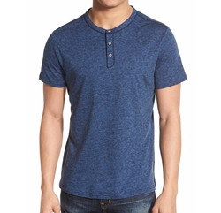 'Clarence' Short Sleeve Henley Shirt by Robert Barakett in Arrow