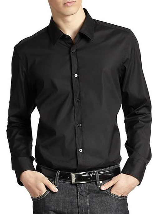 Lucas Stretch-Cotton Sportshirt by Hugo Boss in Youth