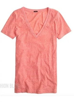 Cotton V-Neck T-Shirt by J.Crew in Arrow