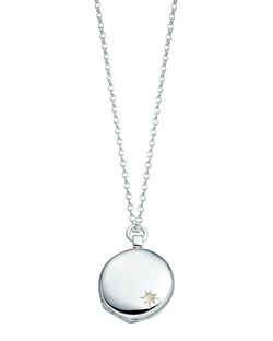 Astley Silver Locket Necklace by Astley Clarke in The Walk