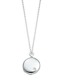 Astley Silver Locket Necklace by Astley Clarke in The Walk