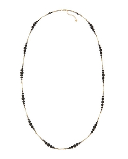 Nakamol Long Beaded Lava Rock & Crystal Necklace