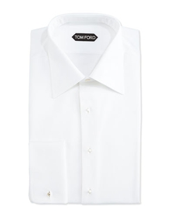 Textured Woven Tuxedo Shirt by Tom Ford in Atonement