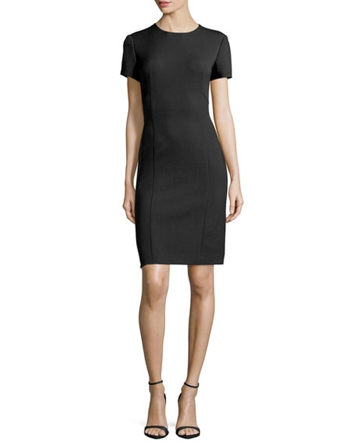 Short-Sleeve Sheath Dress by Agnona in How To Get Away With Murder - Season 3 Episode 2