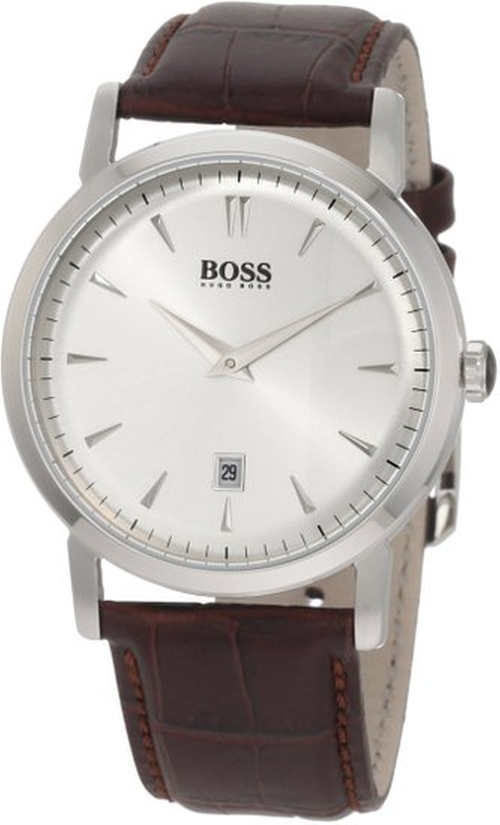 Silver-Tone Dial Watch by Hugo Boss in Spotlight