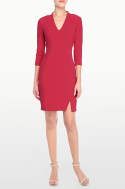 Elise Solid Stretch Crepe Dress by NYDJ in Veep