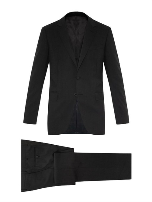 Attitude Notch-Lapel Wool Suit by Lanvin in Spotlight