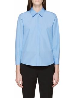 Blue Poplin Shirt by Jil Sander in The Boss