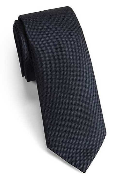 Modern Solid Silk Tie by Saks Fifth Avenue Collection in Paper Towns