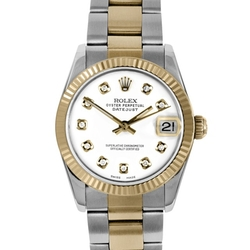 Two Tone Midsize Datejust Watch by Rolex  in House of Cards