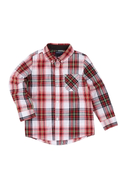 Xmas Red Plaid Shirt by Andy & Evan in Sinister 2