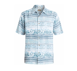 Waterman Men's Pina Floral-Print Stripe Short-Sleeve Shirt by Quiksilver in Animal Kingdom