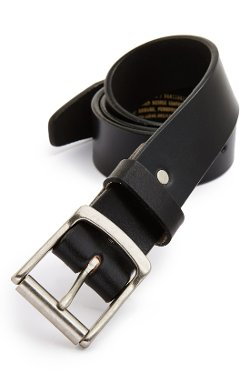 Roller Buckle Leather Belt by Apolis in The Matrix