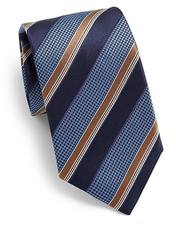 Wide Striped Silk Tie by Canali in The Judge