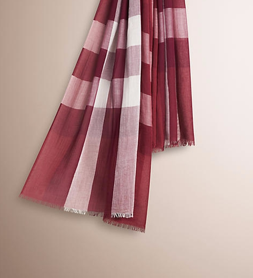 Garnet Pink Scarf by Burberry in The Boss