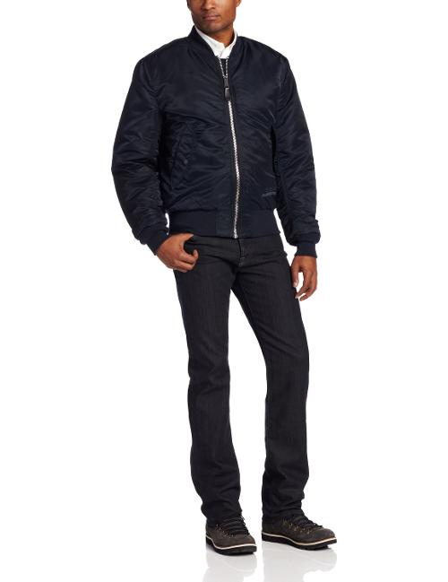 Men's Valor Slim Fit Flight Jacket by Alpha Industries in Lucy