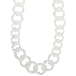 Plastic Chunky Chain Link Necklace by Heirloom Finds in Jem and the Holograms