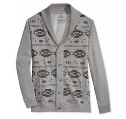 Graphic-Print Shawl-Collar Cardigan by American Rag in New Girl