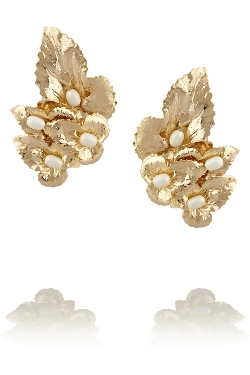 Daisy Pearl Clip Earrings by Rosantica in The Longest Ride