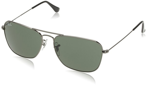 RB3136 Caravan Rectangle Sunglasses by Ray-Ban in Billions