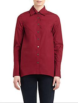 Hi-Low Button Front Shirt by 10 Crosby Derek Lam in If I Stay