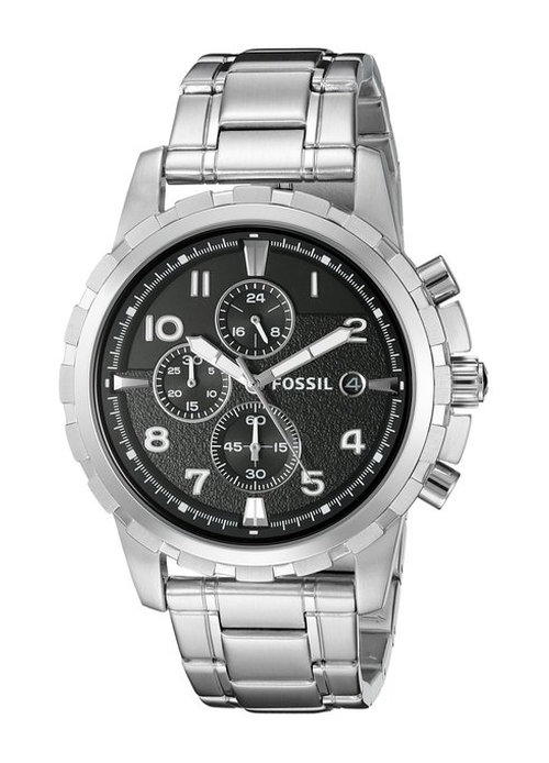 Men's Dean Silver-Tone Chronograph Watch by Fossil in She's Funny That Way