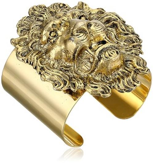 Lion Head Gold-Plated Cuff Bracelet by Yochi in Pretty Little Liars - Season 6 Episode 10