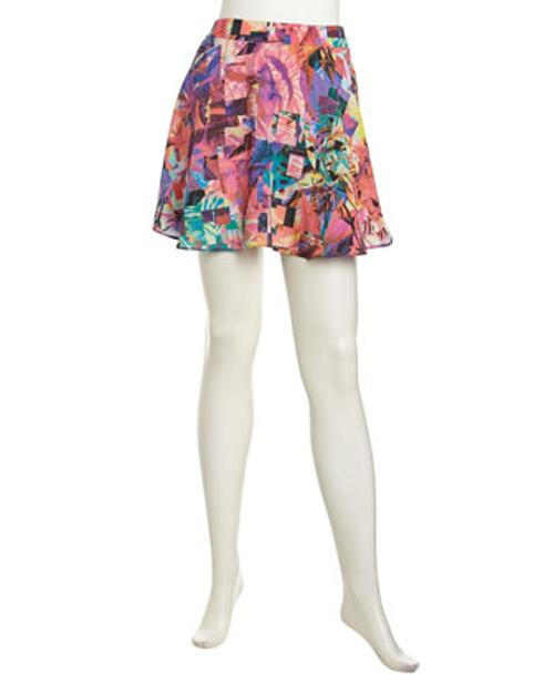 Geometric Floral Print Circle Skirt by Naven in Dolphin Tale 2