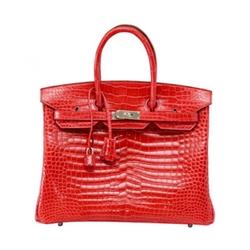 Birkin Bougainvillea Porosus Crocodile Bag by Hermes in Keeping Up With The Kardashians