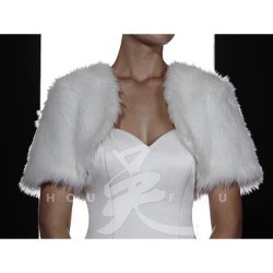 Pretty Maids Fur Bolero Jacket by Bridal Closet in The American