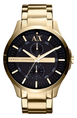 Round Bracelet Watch by AX Armani Exchange in Ballers