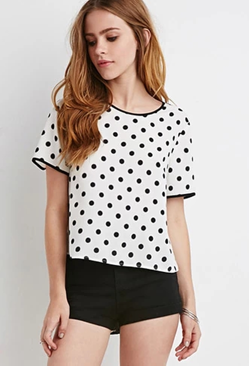 Boxy Polka Dot Blouse by Forever 21 in Brooklyn Nine-Nine - Season 3 Episode 4