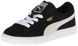 Suede JR Classic Sneaker by Puma in Black-ish