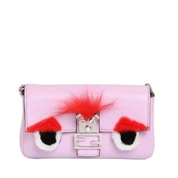 Micro Baguette Monster Leather Bag by Fendi in Empire